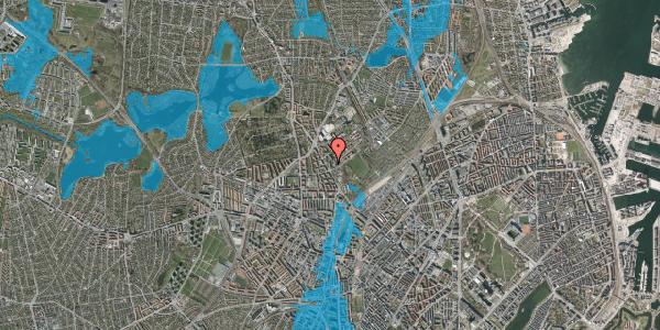 Oversvømmelsesrisiko fra vandløb på Bispebjerg Bakke 5, 4. 413, 2400 København NV