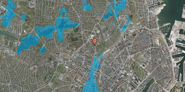 Oversvømmelsesrisiko fra vandløb på Bispebjerg Bakke 5, 5. 513, 2400 København NV