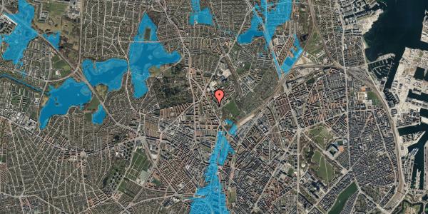 Oversvømmelsesrisiko fra vandløb på Bispebjerg Bakke 5, 6. 611, 2400 København NV