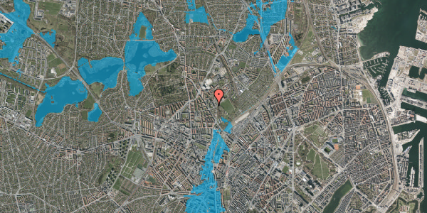 Oversvømmelsesrisiko fra vandløb på Bispebjerg Bakke 7, 1. 101, 2400 København NV