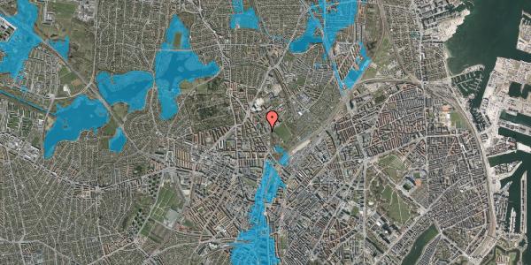Oversvømmelsesrisiko fra vandløb på Bispebjerg Bakke 7, 2. 201, 2400 København NV