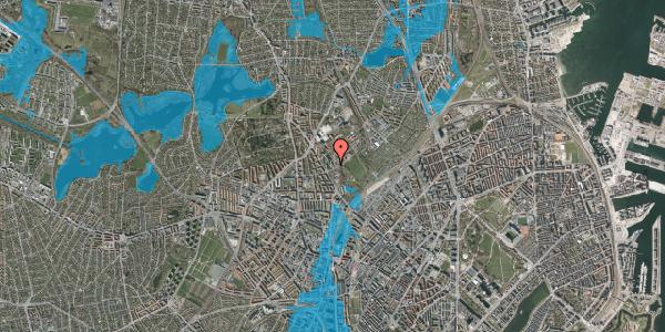 Oversvømmelsesrisiko fra vandløb på Bispebjerg Bakke 9, 4. 407, 2400 København NV