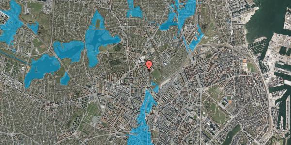 Oversvømmelsesrisiko fra vandløb på Bispebjerg Bakke 11, 4. 414, 2400 København NV
