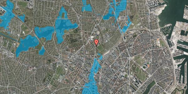Oversvømmelsesrisiko fra vandløb på Bispebjerg Bakke 11, 5. 513, 2400 København NV