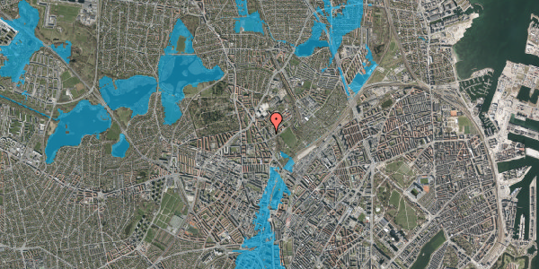 Oversvømmelsesrisiko fra vandløb på Bispebjerg Bakke 11, 6. 611, 2400 København NV