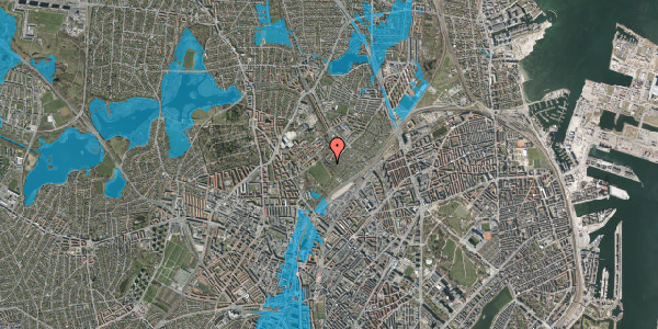 Oversvømmelsesrisiko fra vandløb på Bispebjerg Bakke 18A, 1. tv, 2400 København NV