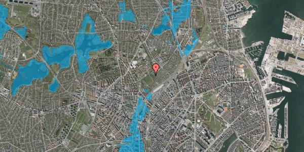 Oversvømmelsesrisiko fra vandløb på Bispebjerg Bakke 18B, st. tv, 2400 København NV
