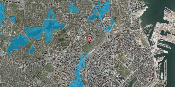 Oversvømmelsesrisiko fra vandløb på Bispebjerg Bakke 18D, st. th, 2400 København NV