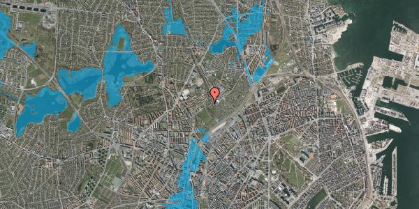 Oversvømmelsesrisiko fra vandløb på Bispebjerg Bakke 18H, 2. th, 2400 København NV