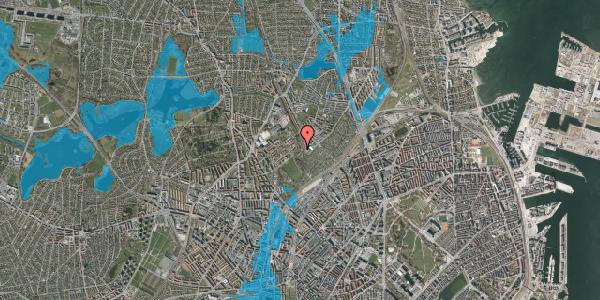 Oversvømmelsesrisiko fra vandløb på Bispebjerg Bakke 18L, st. tv, 2400 København NV