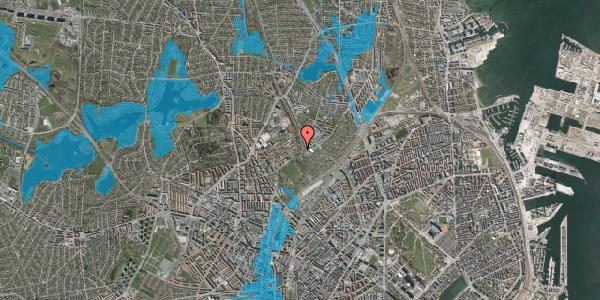 Oversvømmelsesrisiko fra vandløb på Bispebjerg Bakke 18M, 1. tv, 2400 København NV