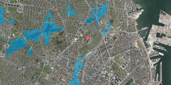 Oversvømmelsesrisiko fra vandløb på Bispebjerg Bakke 18N, 1. th, 2400 København NV