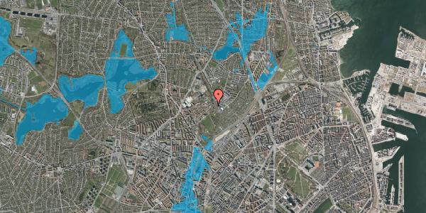 Oversvømmelsesrisiko fra vandløb på Bispebjerg Bakke 22A, st. tv, 2400 København NV