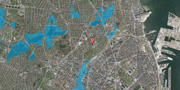 Oversvømmelsesrisiko fra vandløb på Bispebjerg Bakke 22C, st. tv, 2400 København NV