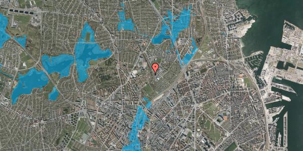 Oversvømmelsesrisiko fra vandløb på Bispebjerg Bakke 22C, 1. tv, 2400 København NV