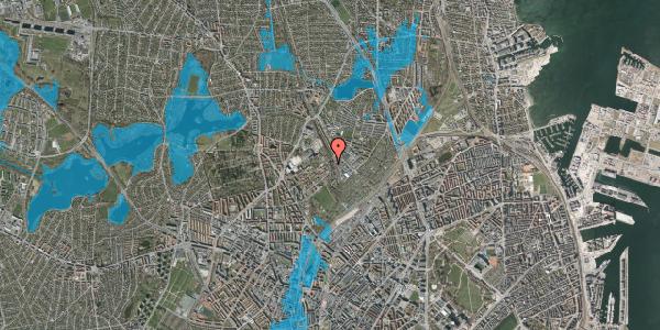 Oversvømmelsesrisiko fra vandløb på Bispebjerg Bakke 22E, st. th, 2400 København NV
