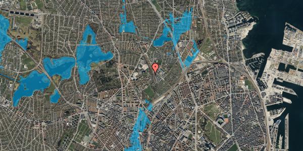 Oversvømmelsesrisiko fra vandløb på Bispebjerg Bakke 22F, st. tv, 2400 København NV