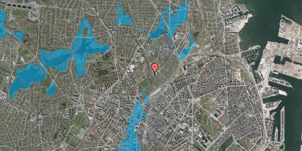 Oversvømmelsesrisiko fra vandløb på Bispebjerg Bakke 26A, 2. tv, 2400 København NV