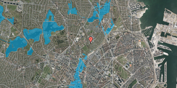 Oversvømmelsesrisiko fra vandløb på Bispebjerg Bakke 26B, 1. th, 2400 København NV