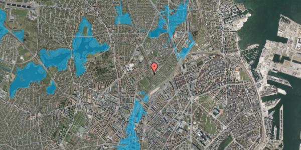 Oversvømmelsesrisiko fra vandløb på Bispebjerg Bakke 26B, 2. tv, 2400 København NV