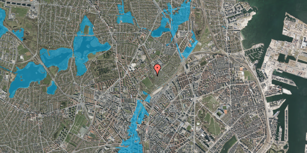 Oversvømmelsesrisiko fra vandløb på Bispebjerg Bakke 26D, st. tv, 2400 København NV