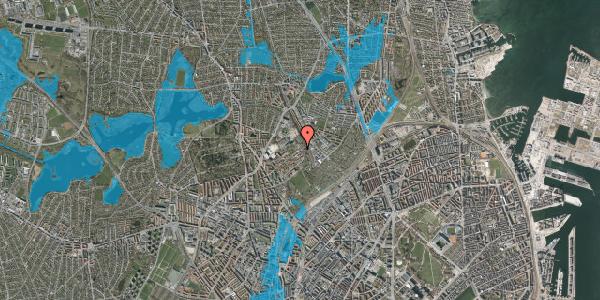 Oversvømmelsesrisiko fra vandløb på Bispebjerg Bakke 35, st. tv, 2400 København NV