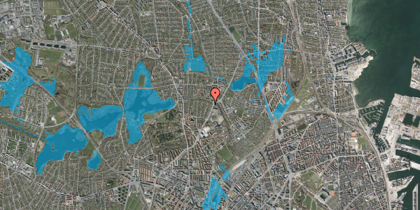 Oversvømmelsesrisiko fra vandløb på Bispebjerg Parkallé 5, 2400 København NV