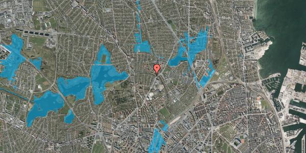 Oversvømmelsesrisiko fra vandløb på Bispebjerg Parkallé 7, 2400 København NV