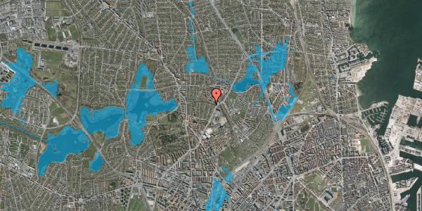 Oversvømmelsesrisiko fra vandløb på Bispebjerg Parkallé 9, 2400 København NV