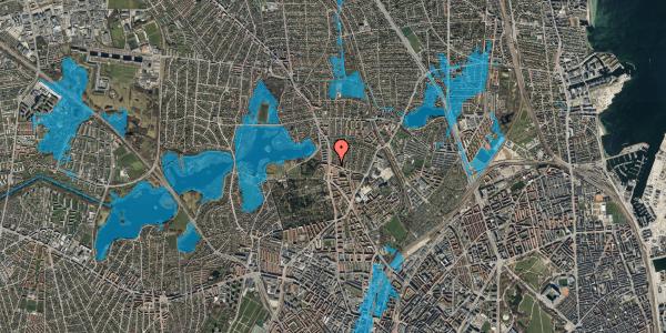 Oversvømmelsesrisiko fra vandløb på Bispebjergvej 69, st. , 2400 København NV
