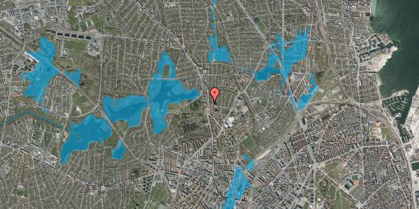 Oversvømmelsesrisiko fra vandløb på Bispebjergvej 71, st. th, 2400 København NV