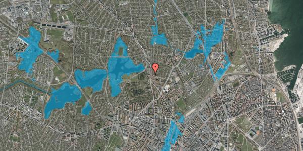 Oversvømmelsesrisiko fra vandløb på Bispebjergvej 73, 1. tv, 2400 København NV
