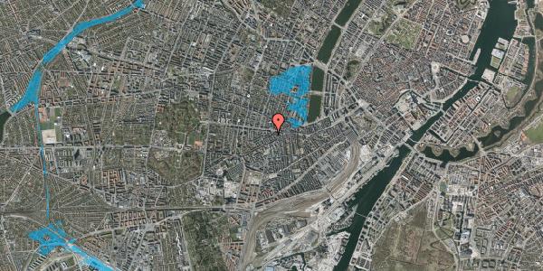 Oversvømmelsesrisiko fra vandløb på Boyesgade 1, 3. th, 1622 København V