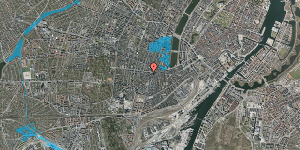 Oversvømmelsesrisiko fra vandløb på Boyesgade 1, 4. tv, 1622 København V