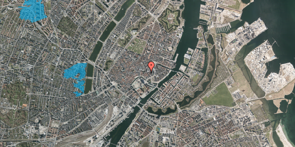 Oversvømmelsesrisiko fra vandløb på Bremerholm 26, 2. th, 1069 København K