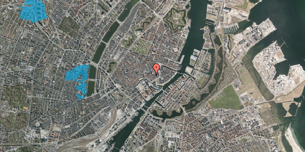 Oversvømmelsesrisiko fra vandløb på Bremerholm 28, st. tv, 1069 København K