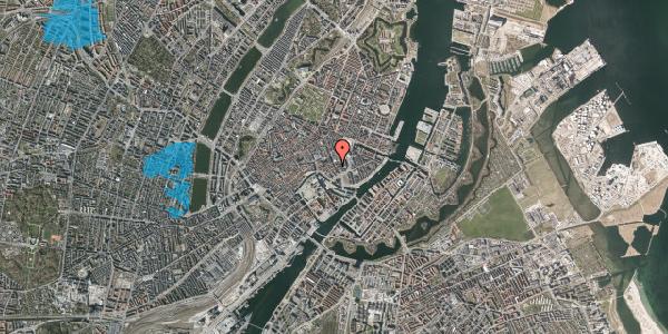 Oversvømmelsesrisiko fra vandløb på Bremerholm 28, 2. tv, 1069 København K