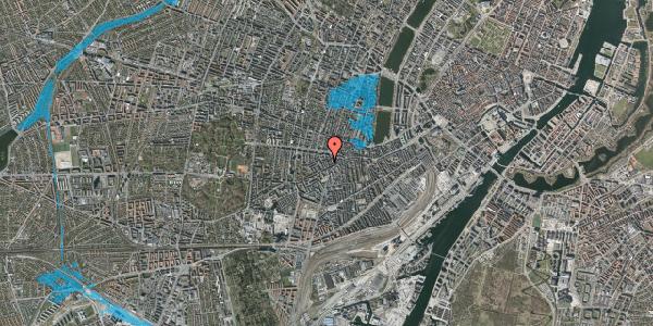 Oversvømmelsesrisiko fra vandløb på Brorsonsgade 8, 3. tv, 1624 København V