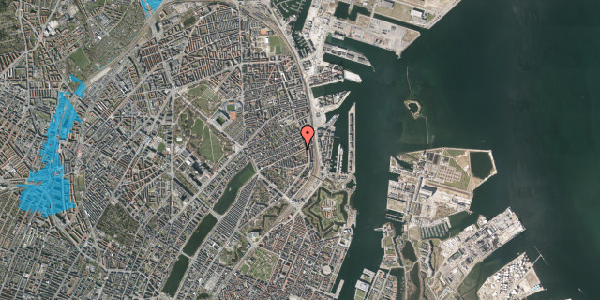 Oversvømmelsesrisiko fra vandløb på Classensgade 61, 3. th, 2100 København Ø