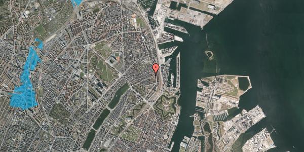 Oversvømmelsesrisiko fra vandløb på Classensgade 61, 5. 1, 2100 København Ø