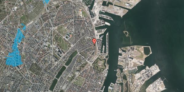 Oversvømmelsesrisiko fra vandløb på Classensgade 63, 1. 3, 2100 København Ø