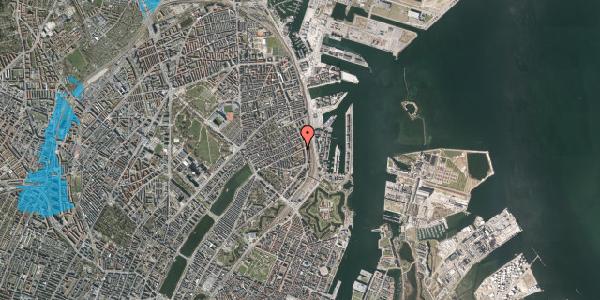 Oversvømmelsesrisiko fra vandløb på Classensgade 65, 5. 2, 2100 København Ø