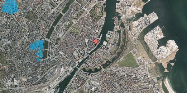 Oversvømmelsesrisiko fra vandløb på Cort Adelers Gade 4, 4. tv, 1053 København K