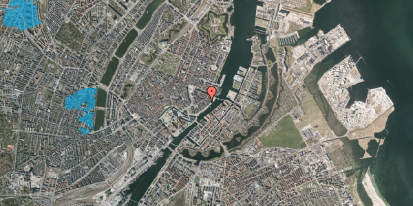 Oversvømmelsesrisiko fra vandløb på Cort Adelers Gade 8, 3. 309, 1053 København K