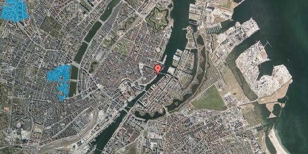 Oversvømmelsesrisiko fra vandløb på Cort Adelers Gade 9, 4. tv, 1053 København K