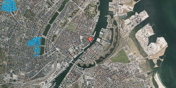 Oversvømmelsesrisiko fra vandløb på Cort Adelers Gade 10, 2. 201, 1053 København K