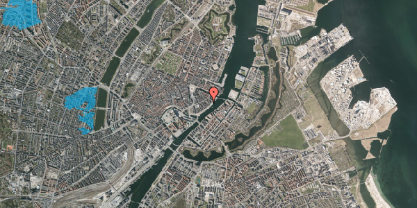 Oversvømmelsesrisiko fra vandløb på Cort Adelers Gade 10, 3. 306, 1053 København K