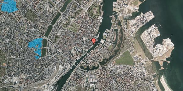 Oversvømmelsesrisiko fra vandløb på Cort Adelers Gade 10, 4. 405, 1053 København K