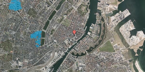 Oversvømmelsesrisiko fra vandløb på Dybensgade 4, 1. th, 1071 København K