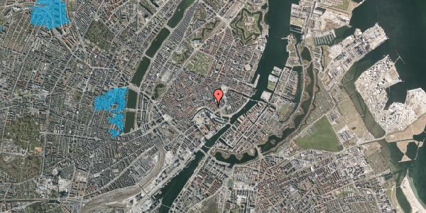 Oversvømmelsesrisiko fra vandløb på Dybensgade 21, 1. , 1071 København K